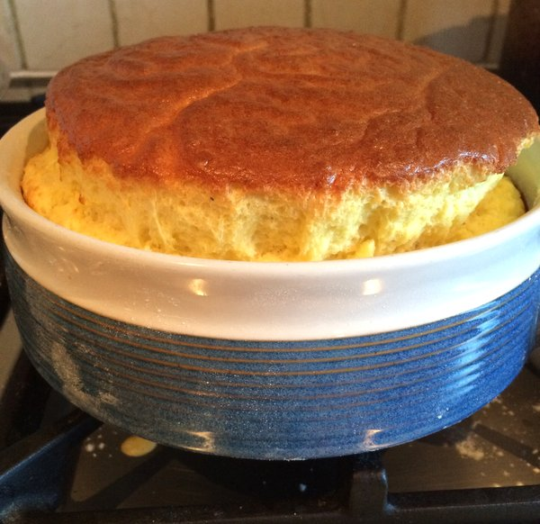 My cheese souffle - check out the recipe!