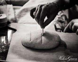 Slashing the dough