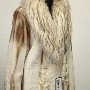 Brown Cross Sheared Mink Coat