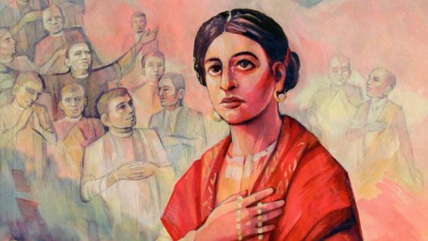 Pintura de la mártir Emilia Fernández