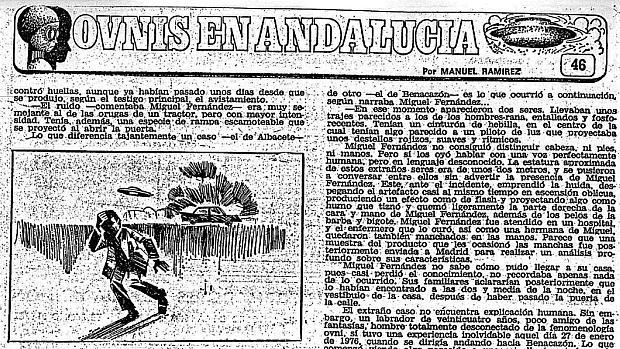 La serie de ABC «Ovnis en Andalucía» ha inspirado un nuevo libro sobre el fenómeno