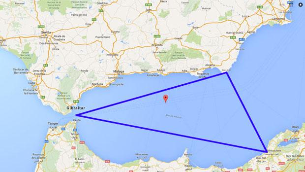 Resultado de imagen de triangulo maldito mar de alboran