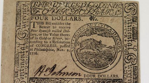 Billete de cuatro dólares