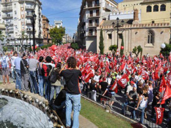 En toda Andalucía, más de 140.000 personas han participado de las concentraciones sindicales