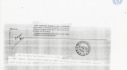 *  SVC 35 CADIZ LA CAMPANA 16 16 6 940. Confirmamos nuestra participación concurso coro alegría campanera. Saludale. Juan Durán Oviedo