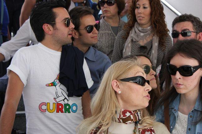 2.000 personas pudieron hacer su visita ayer, pero muchos otros tuvieron que quedarse fuera/C. Rivas