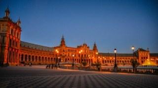 plaza de españa noche