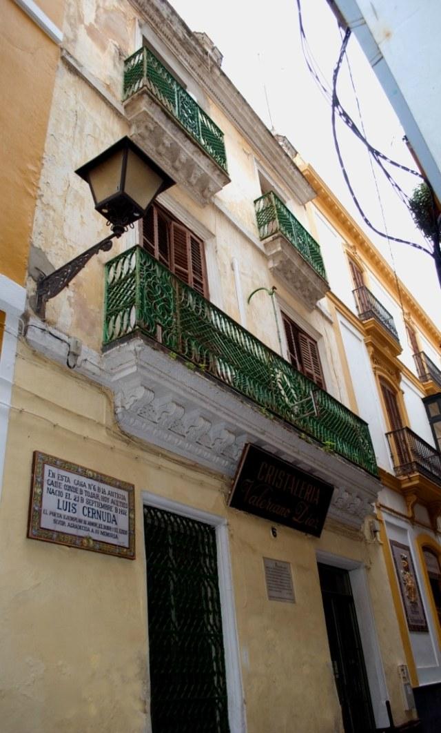 Casa Luis Cernuda en Sevilla
