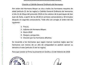 cabildo incidencias rocio 2018 sevilla sur