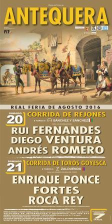 Cartel Feria Taurina de Antequera