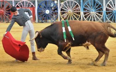 La Algaba: 2ª de Feria  – Triunfo de Carlos Fernández y homenaje a Luis Arenas