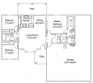 1245 Seville Floor Plan