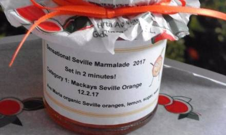 One of the entries for Marmalade Awards from Jammy Bakers