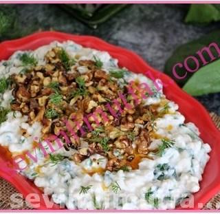 Ispanaklı Cevizli Buğday Salatası Nasıl Yapılır?