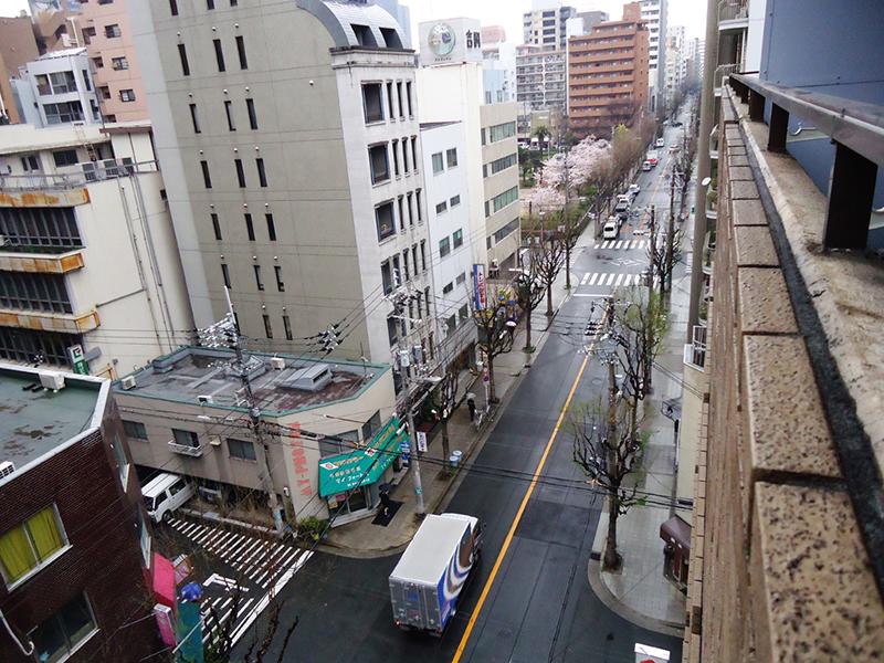 Rua do nosso partamento em Osaka