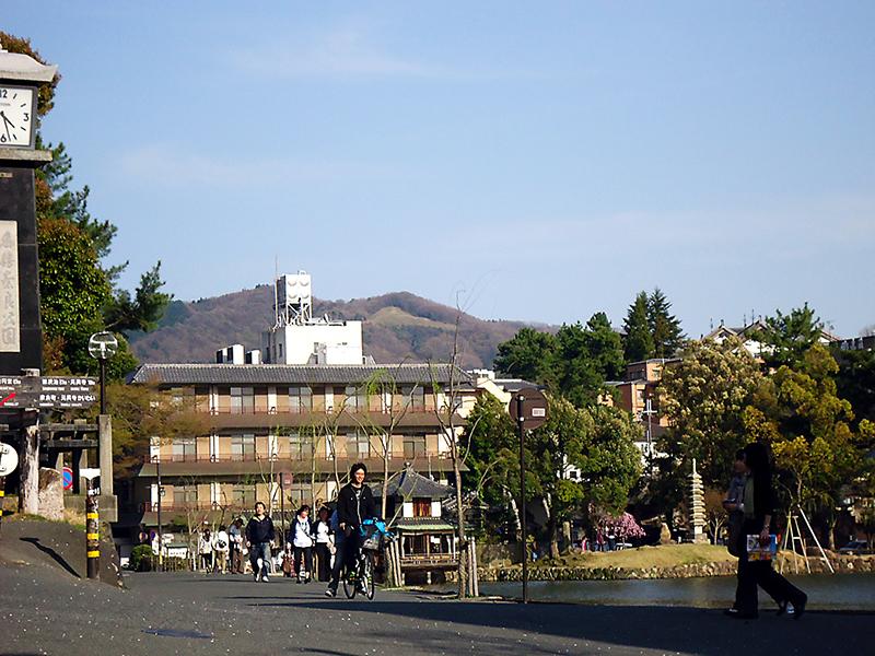 ruas tranquilas em Nara