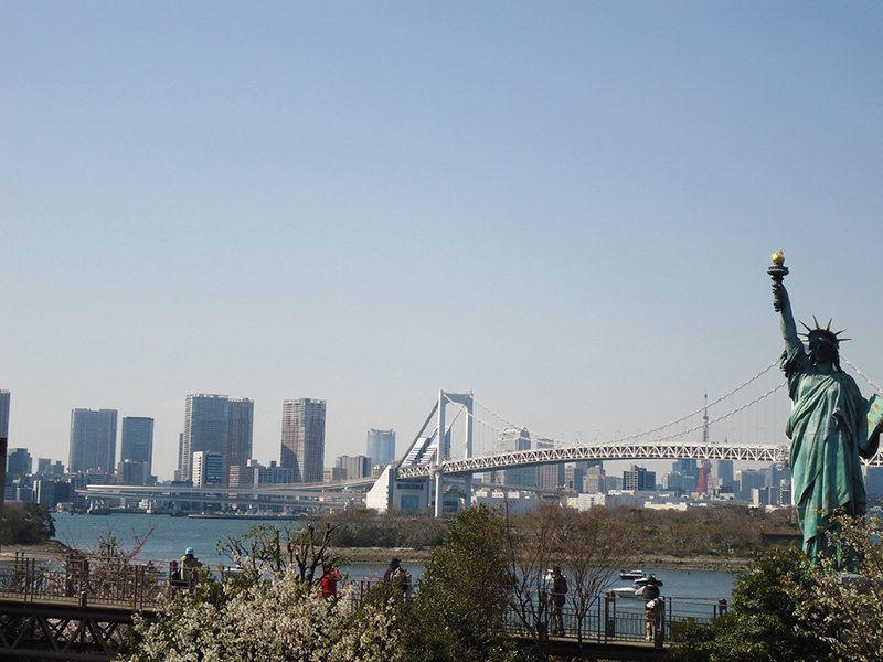 vista para raibow bridge em Tóquio