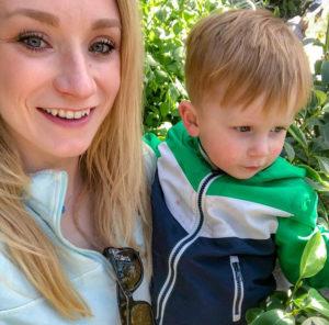 Becca Burkhart with her son