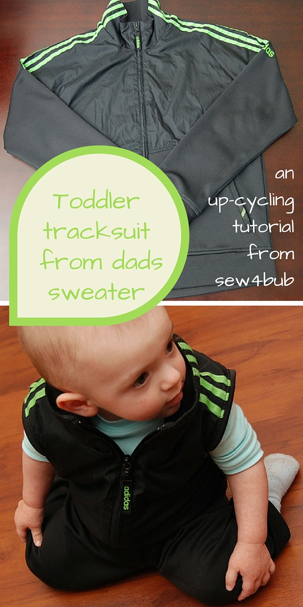 Toddler tracksuit from dads sweater sew4bub