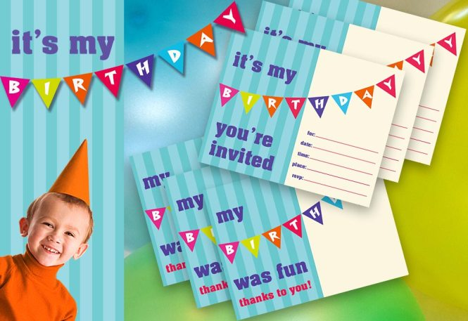 Kid S Birthday Party Printable Invite
