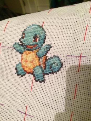 WIP shot of the Kanto Pokemon 3 panel piece. Here we have Squirtle.