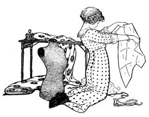 vintage sewing girl 2