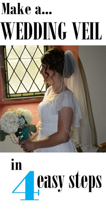 Make a Wedding Veil in 4 Easy Steps! A great DIY project for a special handmade touch.