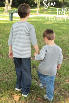 Back to School with Peekaboo Pattern Shop Styles - Little Brother gets a shirt too!