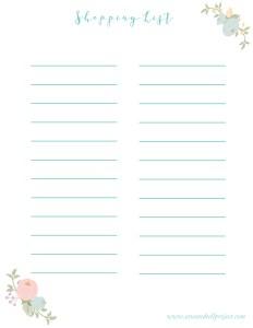 shopping list draft final