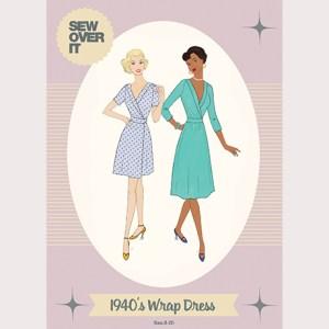 1940's Wrap Dress Sewing Pattern