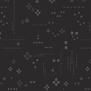 Stellar Decostitch cotton fabric AGF black