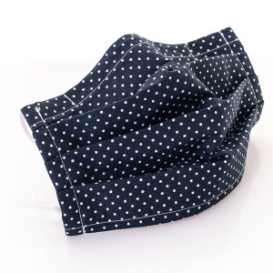 Reusablecotton fabric face masks – ADULTS (with pocket for filter, nose wire and elastic ear ties)