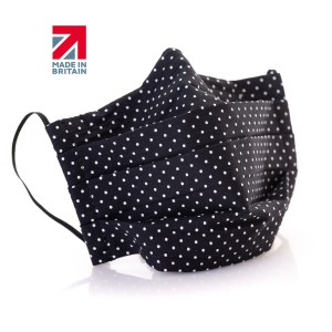 Reusable fabric face masks (with pocket for filter, nose wire and elastic ear ties)