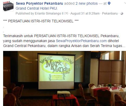 Sewa LCD projector di Pekanbaru untuk arisan