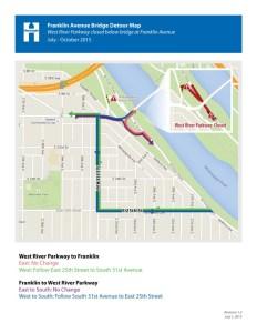 Franklin Bridge detour map 7-6-15