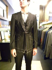 Custom bespoke suit