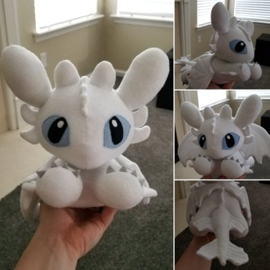 Light Fury Plush