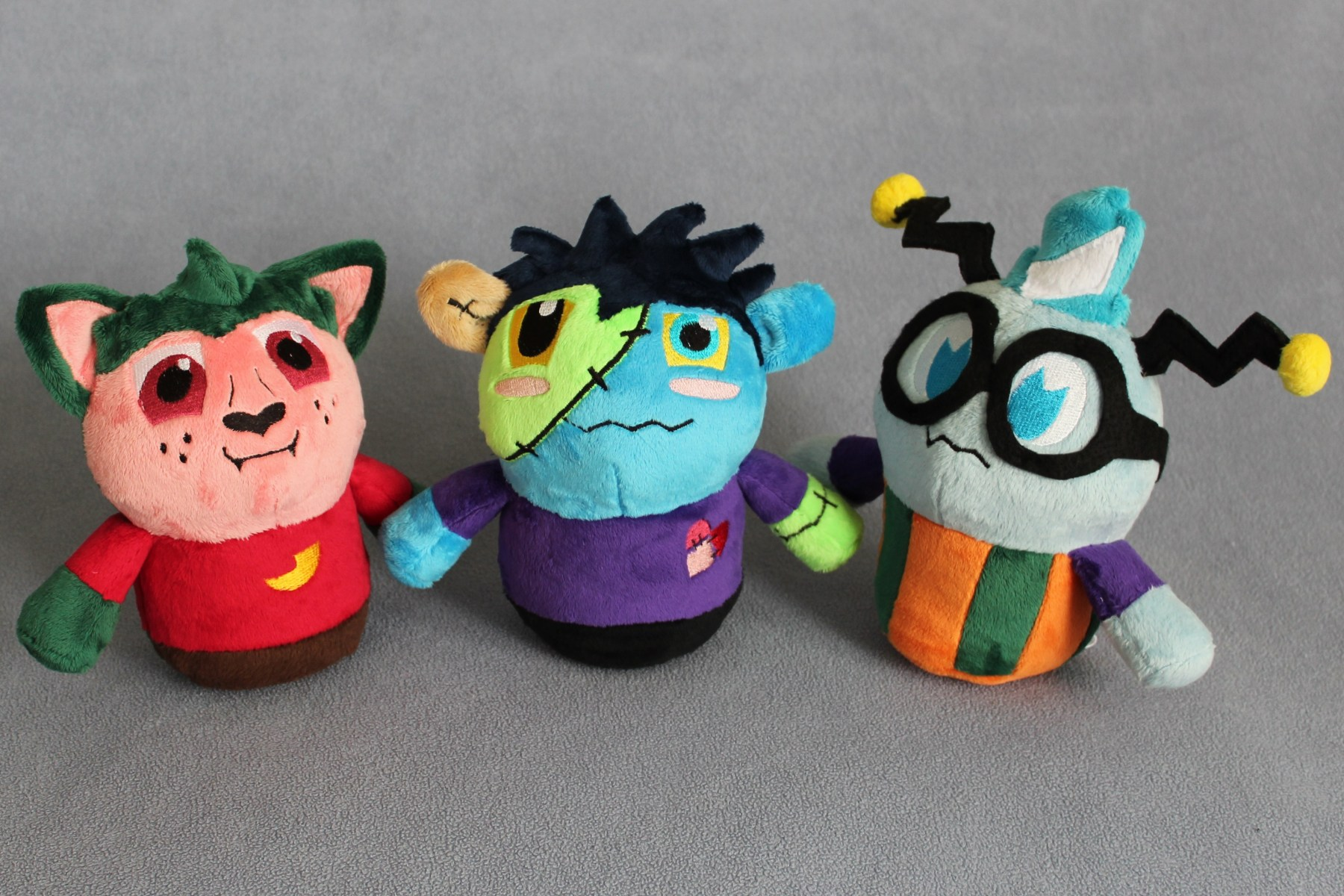 Custom Zombie, Werewolf and Alien Plushies