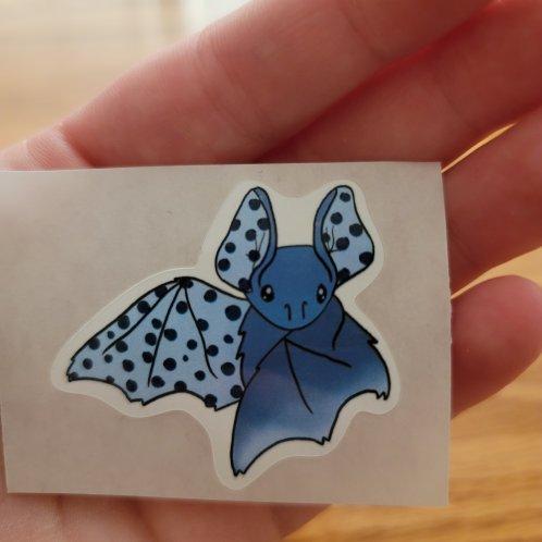 Blueberry Bat Sticker