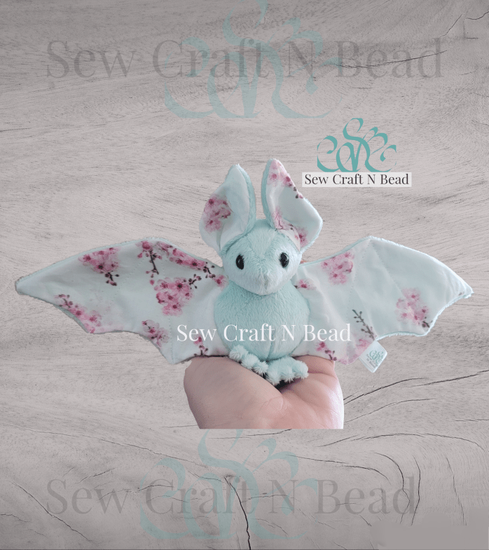Mint Japanese Cherry Blossom Bat Plush