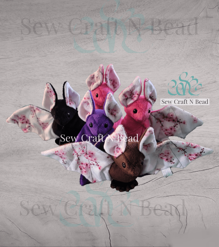 Cherry Blossom Bat Plushies