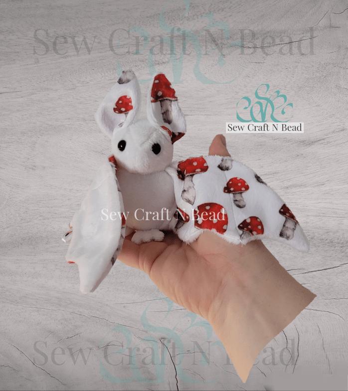 White Mushroom Bat Plush 1