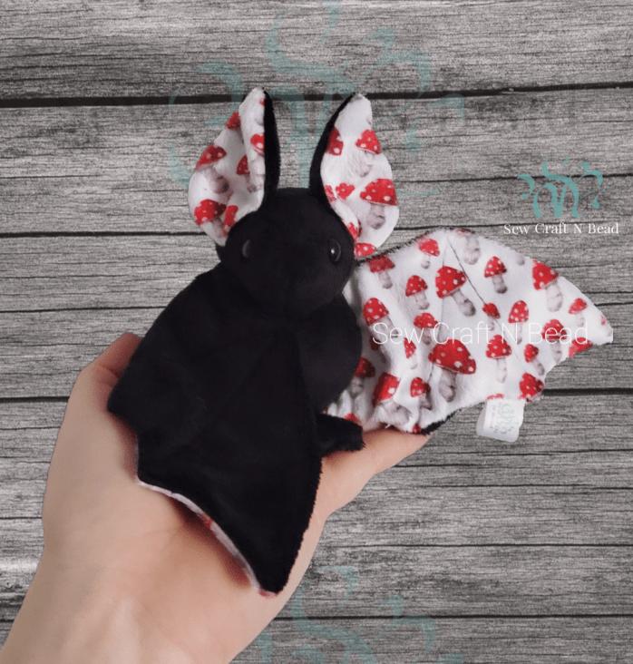 Black Mushroom Bat Plush 2