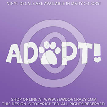 Dog Adopt Decals
