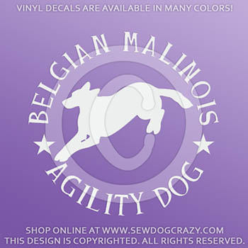 Malinois Agility Decals