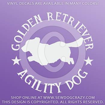 Golden Retriever Agility Car Sticker