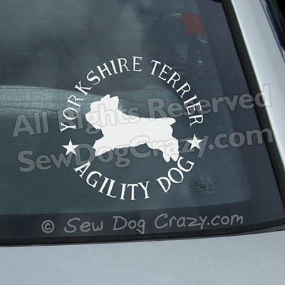Yorkie Agility Car Window Sticker