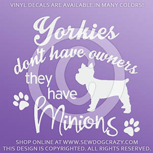 Funny Yorkie Car Decals
