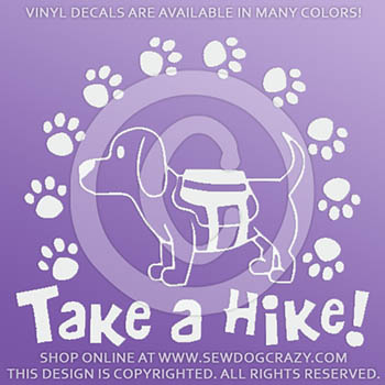 Hiking Dog Vinyl Stickers