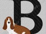 Cute Basset Hound Embroidery